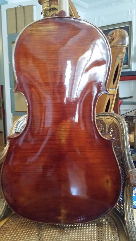 Cello Emile Pouzol 1937 back